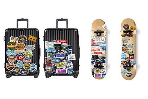 【数量限定!】Chileeany「35枚セット」 防水 ステッカー レトロ ビンテージ スーツケース 防水紙 - スーツケース、_画像4