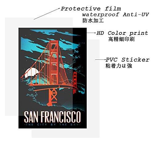 【数量限定!】Chileeany「35枚セット」 防水 ステッカー レトロ ビンテージ スーツケース 防水紙 - スーツケース、_画像6