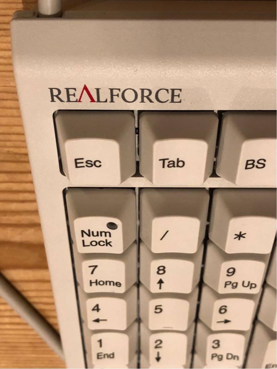 REALFORCE 23U リアルフォース テンキー ホワイト 無接点 45g