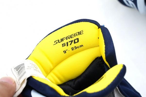 """【中古品】子供用アイスホッケー グローブ BAUER S170 SUPREME Tyh 9"""" Blue/White_画像3"""