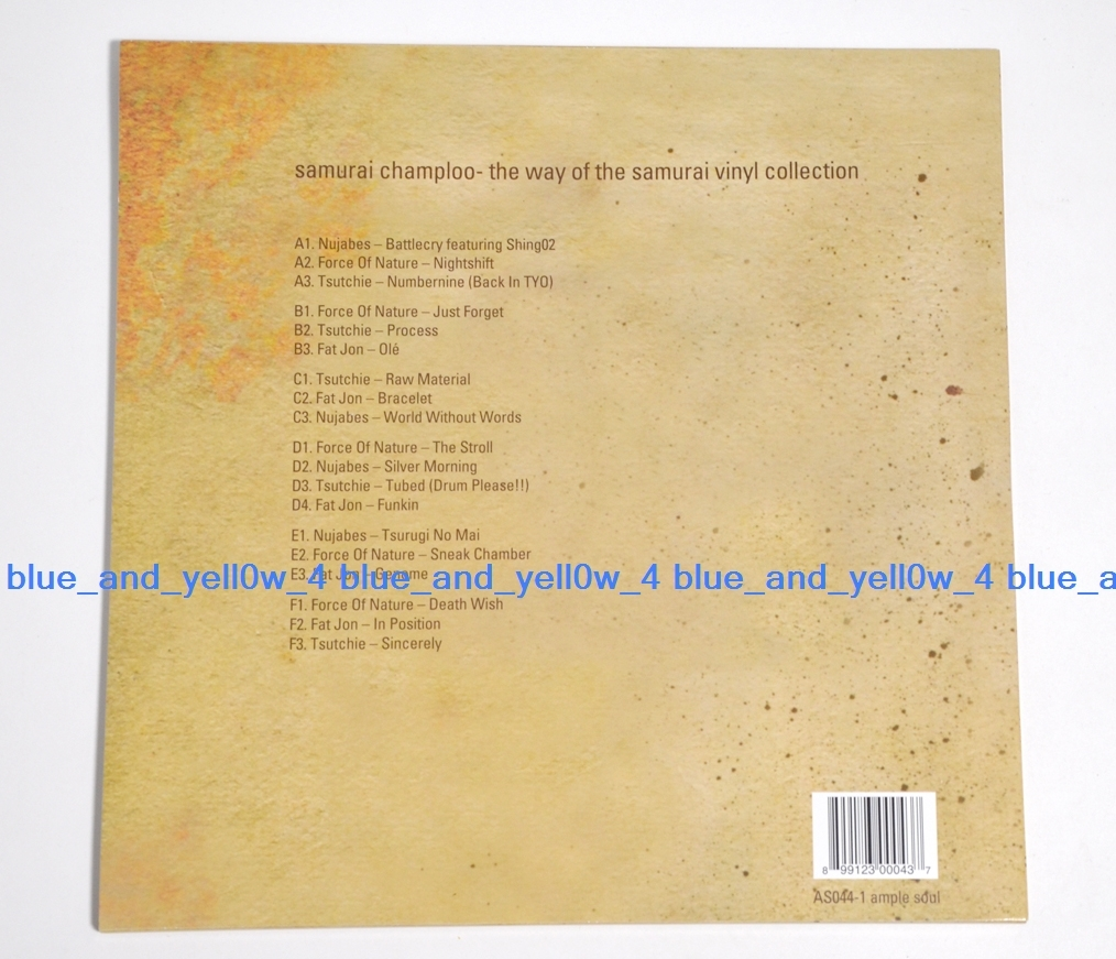 レア盤 新品 SAMURAI CHAMPLOO - THE WAY OF THE SAMURAI COLLECTION 3LP Vinyl  NUJABES SHING02 サムライチャンプルー レコード