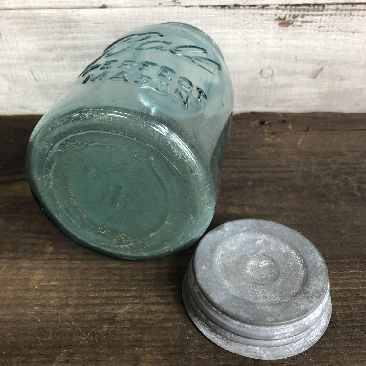 即決⑤ 1930's ball 17.5cm ヴィンテージ メイソンジャー ガラス瓶 キッチン カフェ ガーデニング ジャンク シャビー 雑貨 小物 収納_画像7