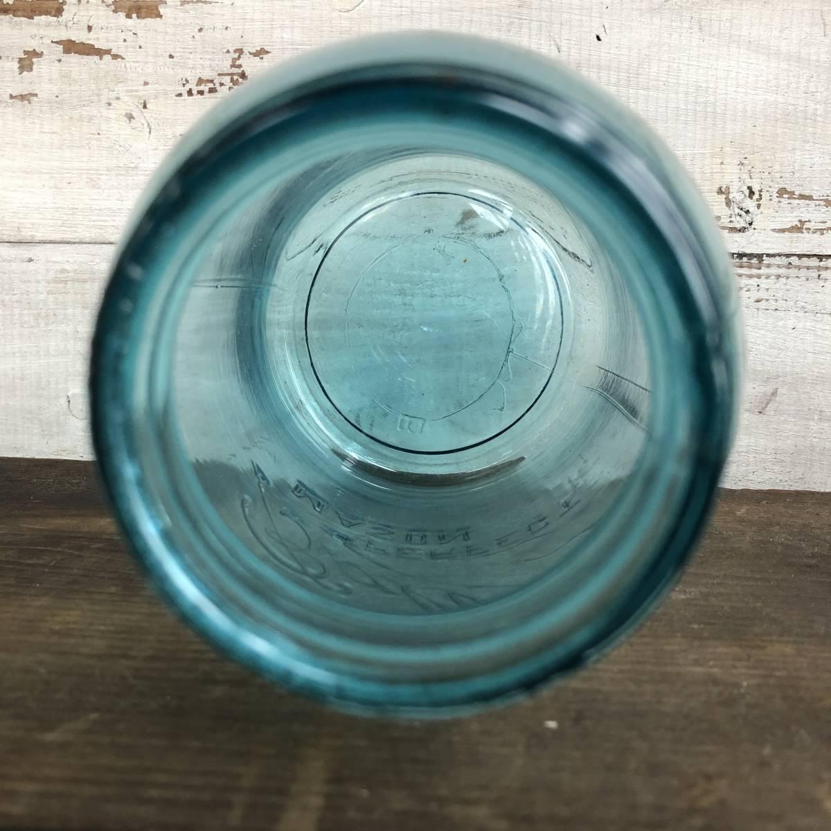 即決⑤ 1930's ball 17.5cm ヴィンテージ メイソンジャー ガラス瓶 キッチン カフェ ガーデニング ジャンク シャビー 雑貨 小物 収納_画像8
