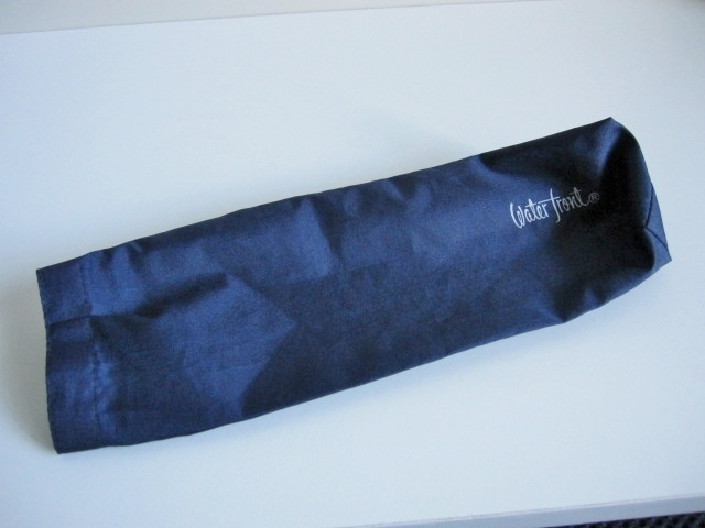 綺麗め 軽量 折り畳み傘 アンブレラ ケースのみ 上品 傘 雨傘 Water front ネイビー レア 得 特_画像5