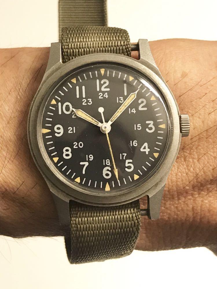 ビンテージ米軍ミリタリーウオッチ Vintage Military Wrist Watch GG-W-113 1978年