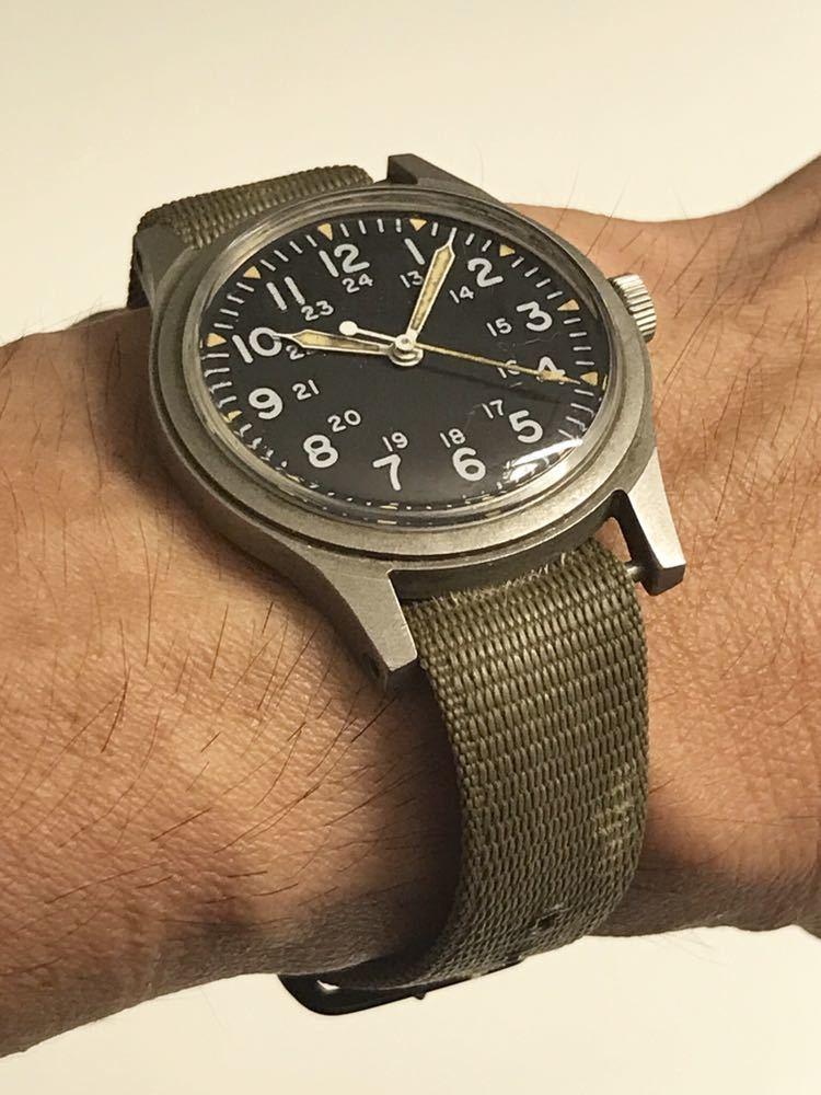 ビンテージ米軍ミリタリーウオッチ Vintage Military Wrist Watch GG-W-113 1978年_画像2