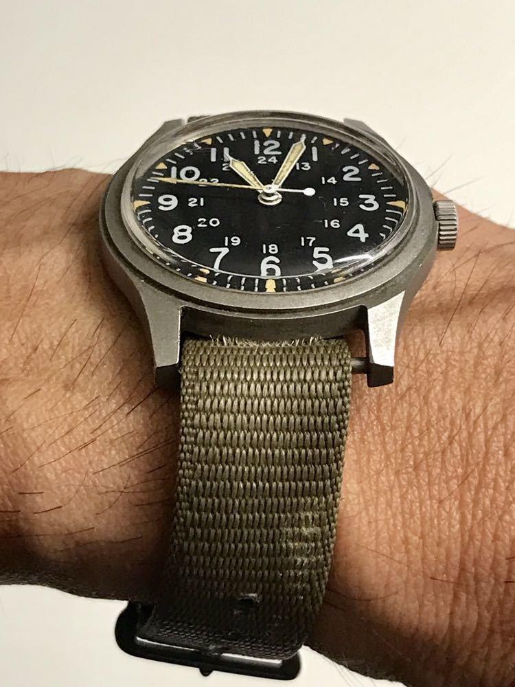ビンテージ米軍ミリタリーウオッチ Vintage Military Wrist Watch GG-W-113 1978年_画像3
