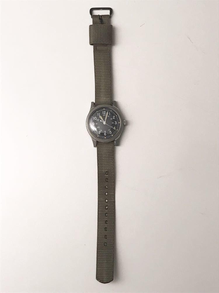 ビンテージ米軍ミリタリーウオッチ Vintage Military Wrist Watch GG-W-113 1978年_画像6