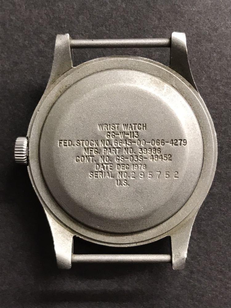 ビンテージ米軍ミリタリーウオッチ Vintage Military Wrist Watch GG-W-113 1978年_画像5