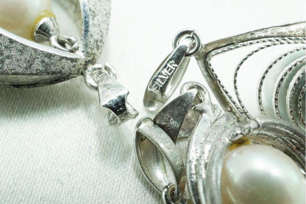 A420 本真珠 パール ヴィンテージ ペンダント 10点セット アクセサリー SILVER含む アンティーク 大量 まとめて おまとめ まとめ売り_画像7