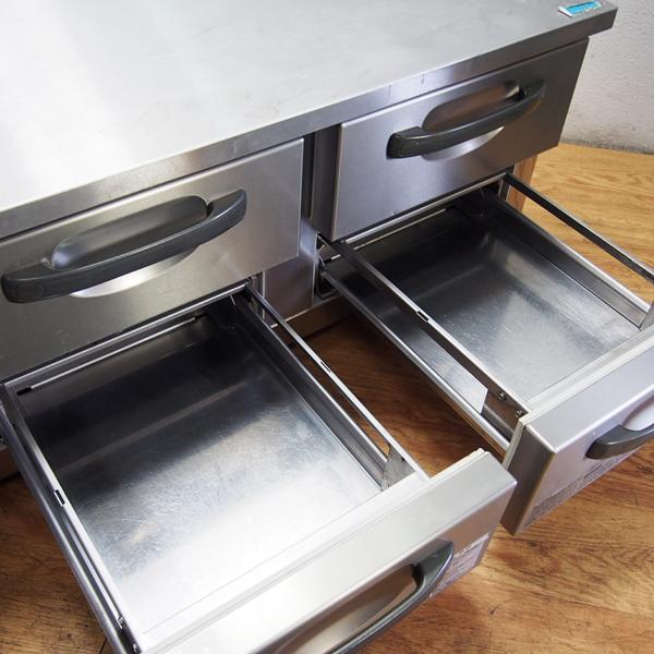 ホシザキ HOSHIZAKI ドロワー冷蔵庫 コールドテーブル 2段 幅1200 RTL-120DNC 単相100V V04088 左ユニット 店舗 厨房 引取り歓迎 FD24_画像2