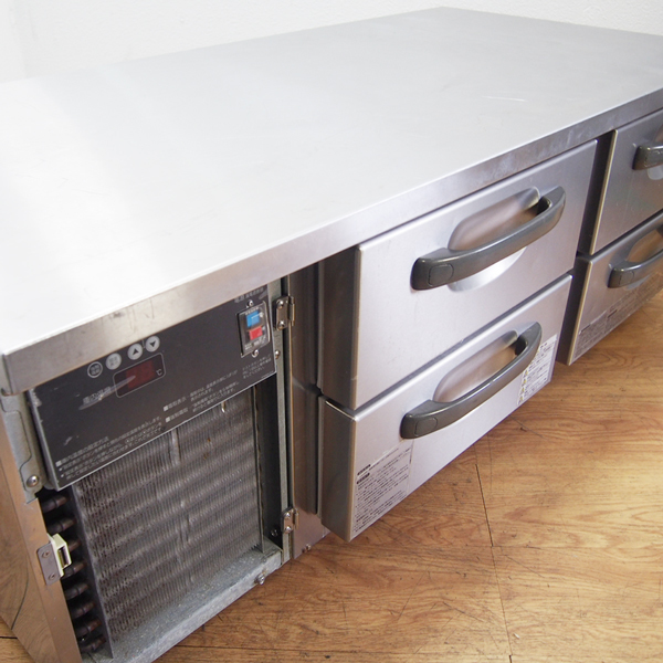 ホシザキ HOSHIZAKI ドロワー冷蔵庫 コールドテーブル 2段 幅1200 RTL-120DNC 単相100V V04088 左ユニット 店舗 厨房 引取り歓迎 FD24_画像3