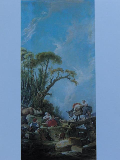 フランソワ ブーシェ、【市場の帰り】、希少画集より、状態良好、新品高級額装付、絵画 送料無料_画像1