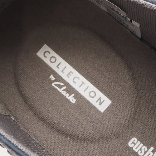 NZ8137 新品 Clarks/クラークス Gosler Pace レザースニーカー UK8.5(27cm) ダークネイビー _画像4