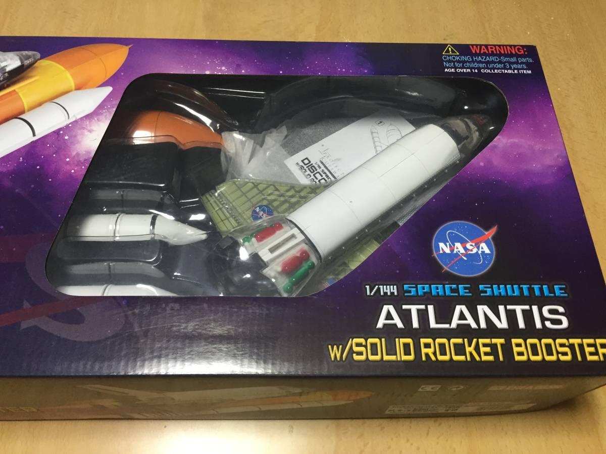 スペースドラゴンウイングス 1/144 スペースシャトル・アトランティス w/ロケットブースター (内部再現) 塗装済み半完成組み立てキット
