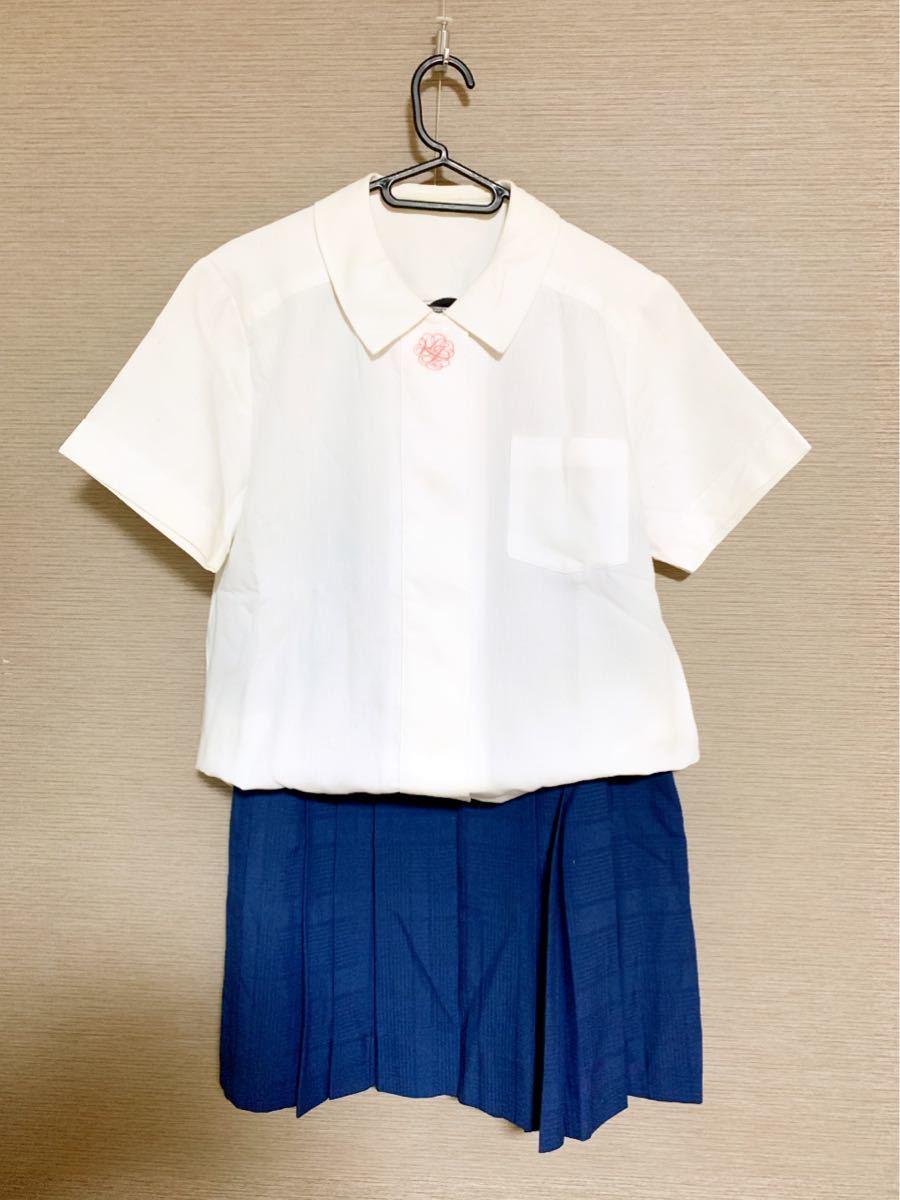 京都橘高校 女子制服・夏服セット ①(旧型) 紺チェックスカート