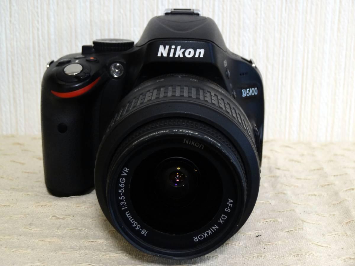 【ショット数少】Nikon D5100 AF-S DX NIKKOR 18-55mm VR レンズキット_画像2