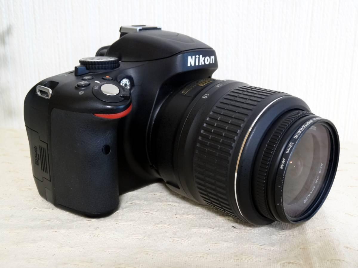 【ショット数少】Nikon D5100 AF-S DX NIKKOR 18-55mm VR レンズキット_画像3