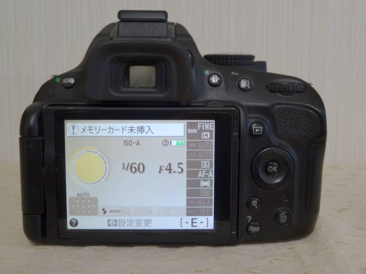 【ショット数少】Nikon D5100 AF-S DX NIKKOR 18-55mm VR レンズキット_画像5