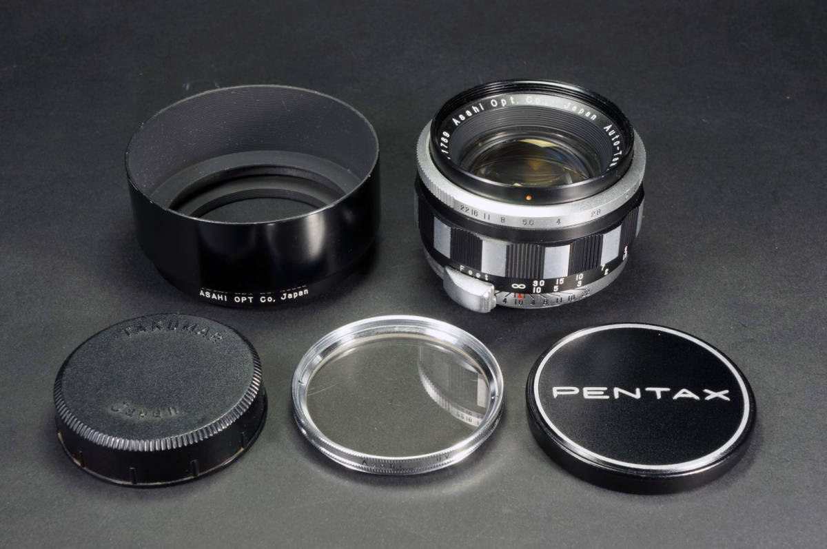 Auto-Takumar 55mm F1.8 ゼブラ 分解清掃済み 絞り開放からシャープな描写ができるオールドレンズ!! α7RⅡによる実写例あり!【送料無料】