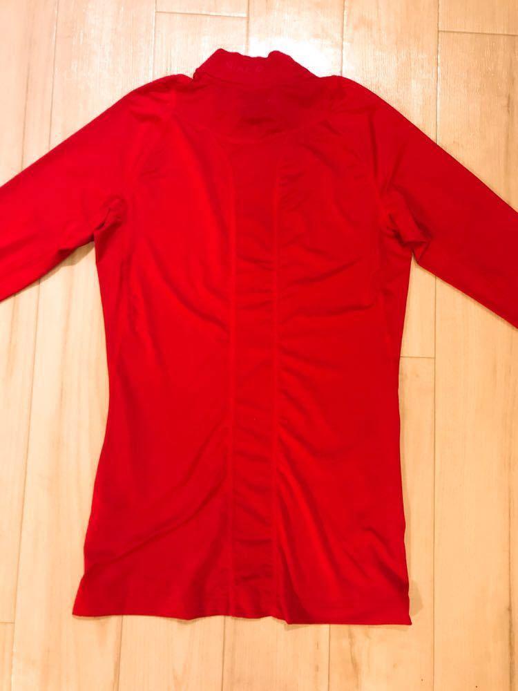 アイスホッケー 日本代表 支給品 NIKE コンプレッション 赤 Sサイズ_画像6