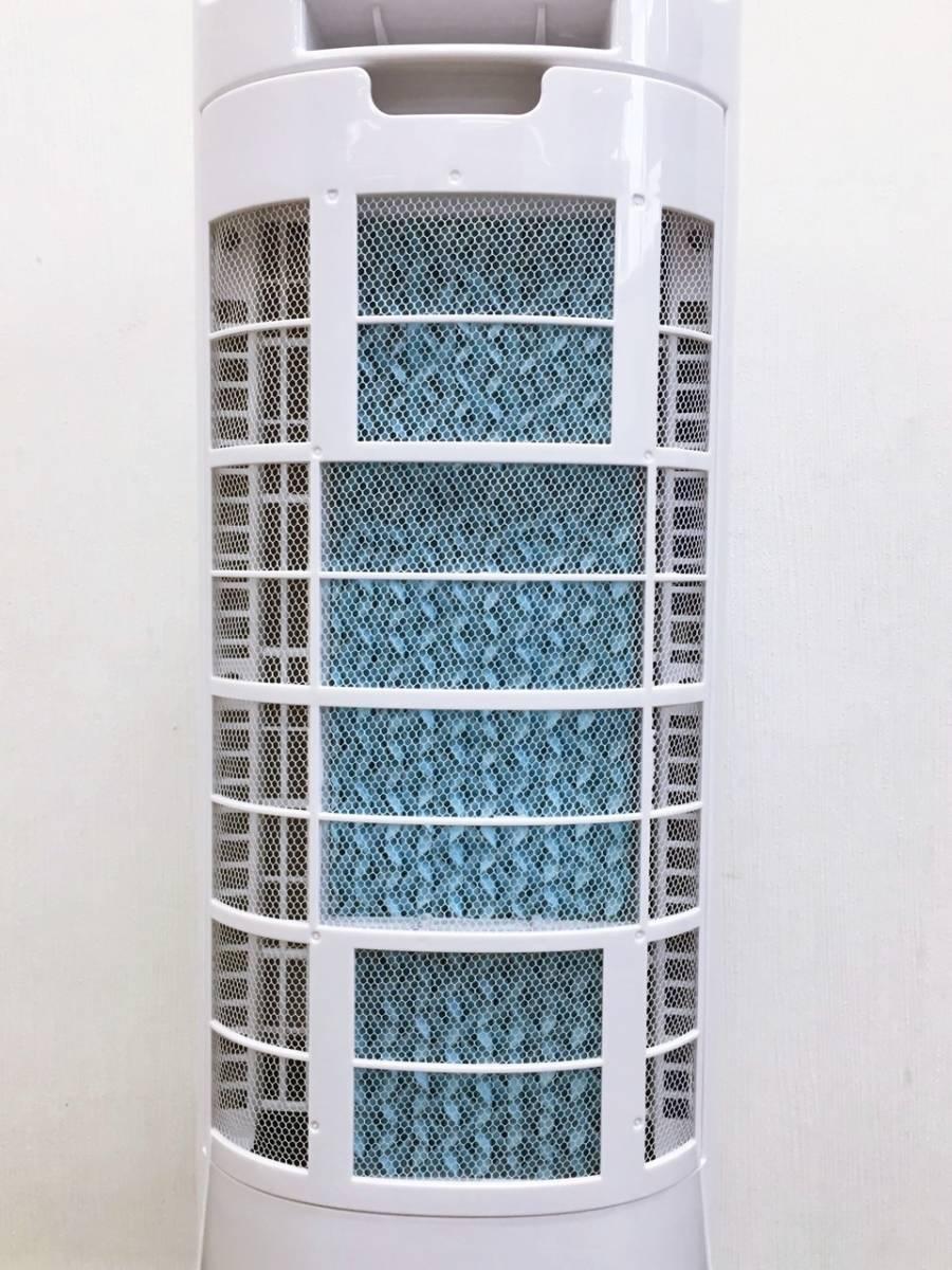 2018年製 山善 YAMAZEN 冷風扇 扇風機 冷風機 FCT-G401 スリム冷風扇 風量3段階 水タンク着脱式 キャスター付き ホワイト _画像7