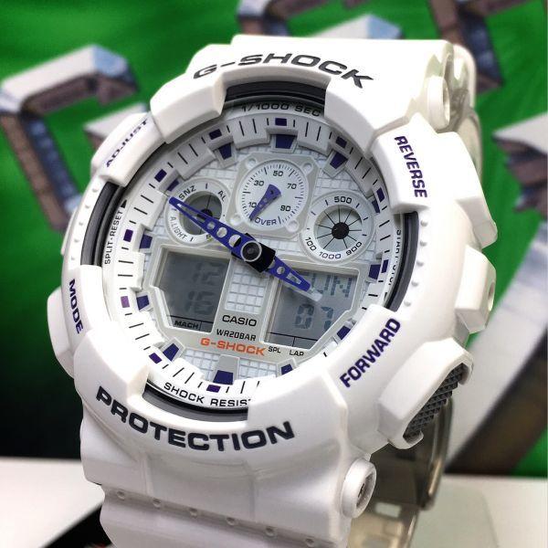 新品 CASIO カシオ G-SHOCK Gショック 正規品 アナログ デジタル 腕時計 ホワイト パープル 白 紫 ウォッチ 時計_画像4