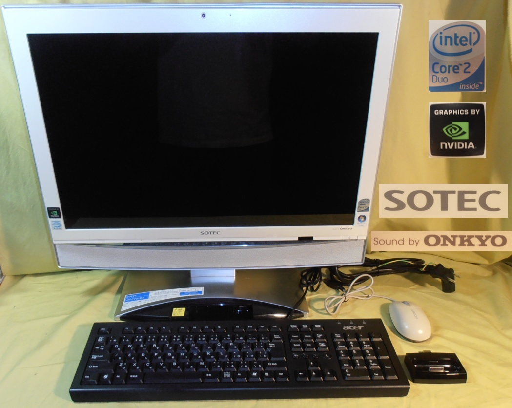 21ワイド一体/Win10/Core 2 Duo/HDMI/ONKYOスピーカー「E701B3」SOTEC