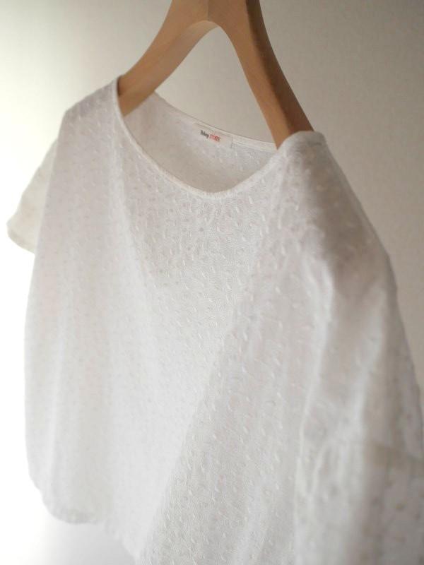 B-Shop 総刺繍ブラウス ホワイト