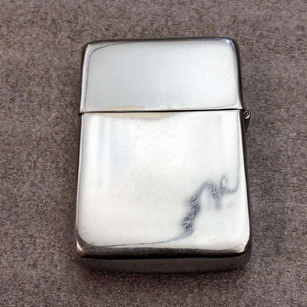 【定番】ZIPPO ジッポ ジッポー シルバーカラー シンプル ジッポライター オイルライター (中身2002年4月製造) 喫煙グッズ タバコ 煙草 /