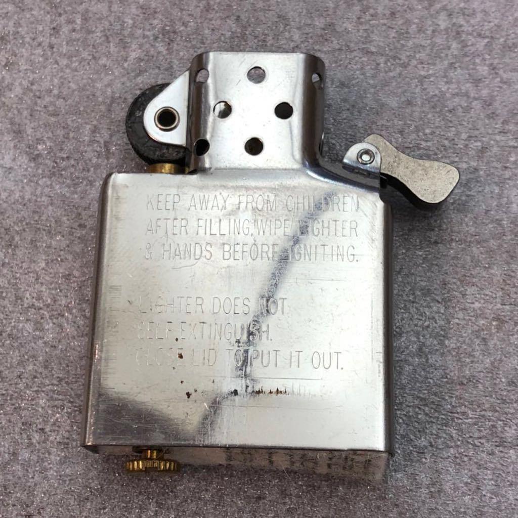 【定番】ZIPPO ジッポ ジッポー シルバーカラー シンプル ジッポライター オイルライター (中身2002年4月製造) 喫煙グッズ タバコ 煙草 /_画像9