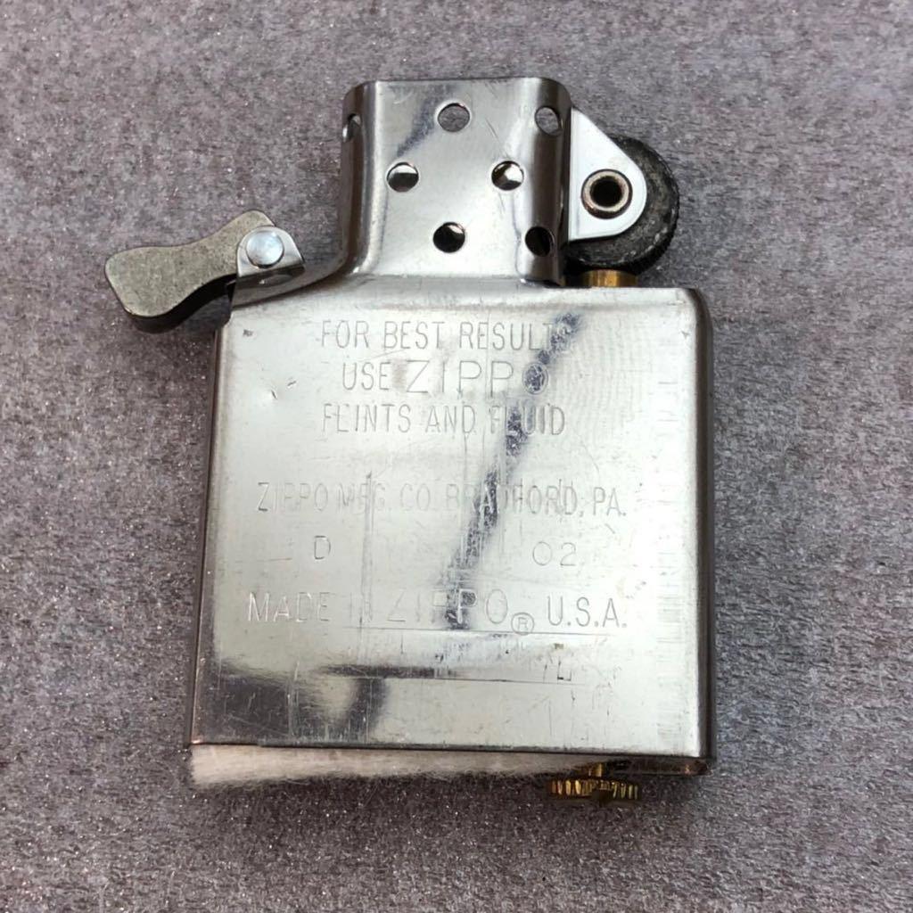 【定番】ZIPPO ジッポ ジッポー シルバーカラー シンプル ジッポライター オイルライター (中身2002年4月製造) 喫煙グッズ タバコ 煙草 /_画像8