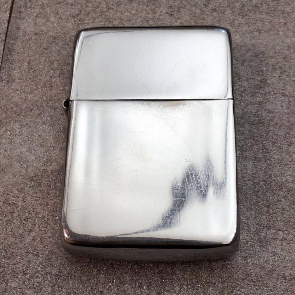 【定番】ZIPPO ジッポ ジッポー シルバーカラー シンプル ジッポライター オイルライター (中身2002年4月製造) 喫煙グッズ タバコ 煙草 /_画像2