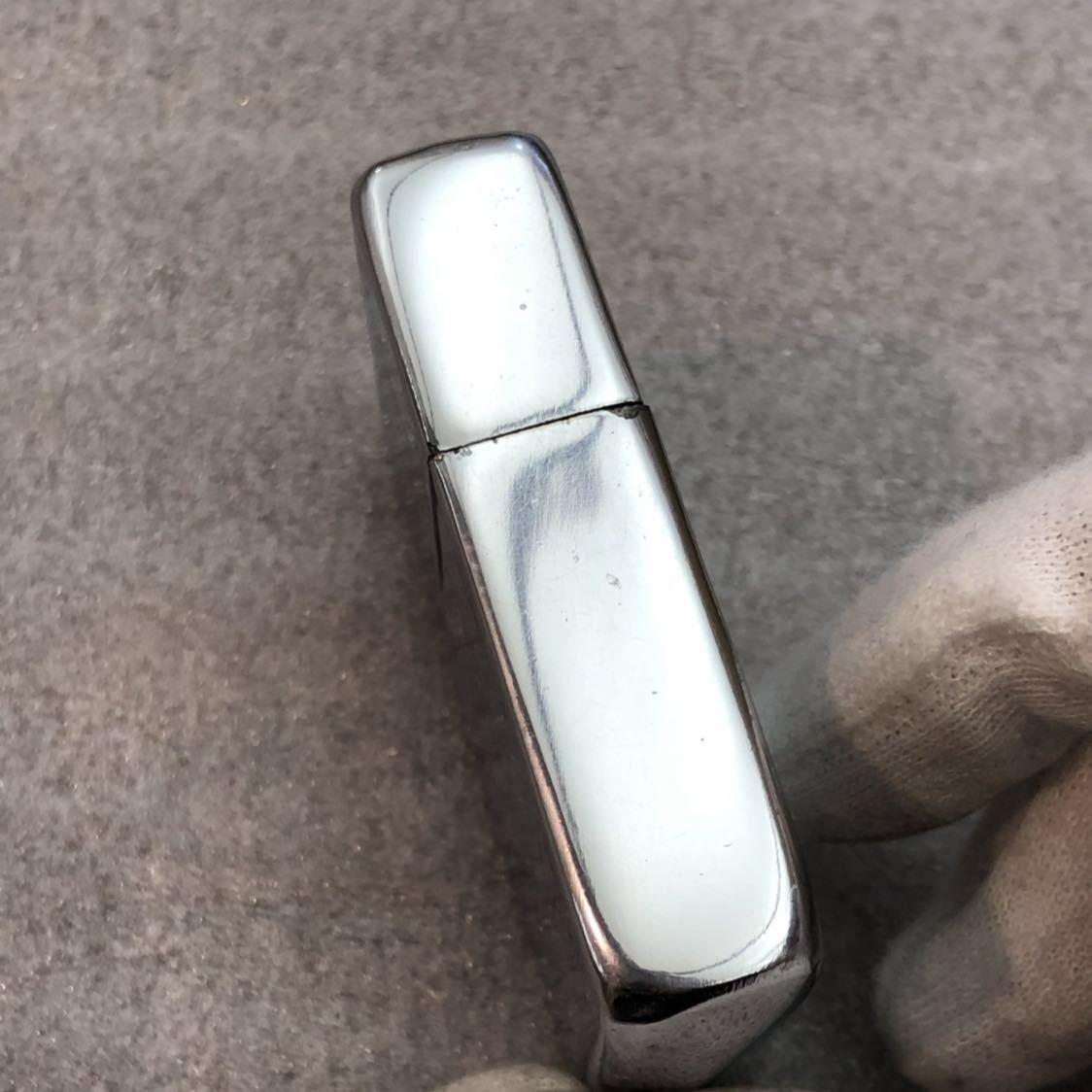 【定番】ZIPPO ジッポ ジッポー シルバーカラー シンプル ジッポライター オイルライター (中身2002年4月製造) 喫煙グッズ タバコ 煙草 /_画像4