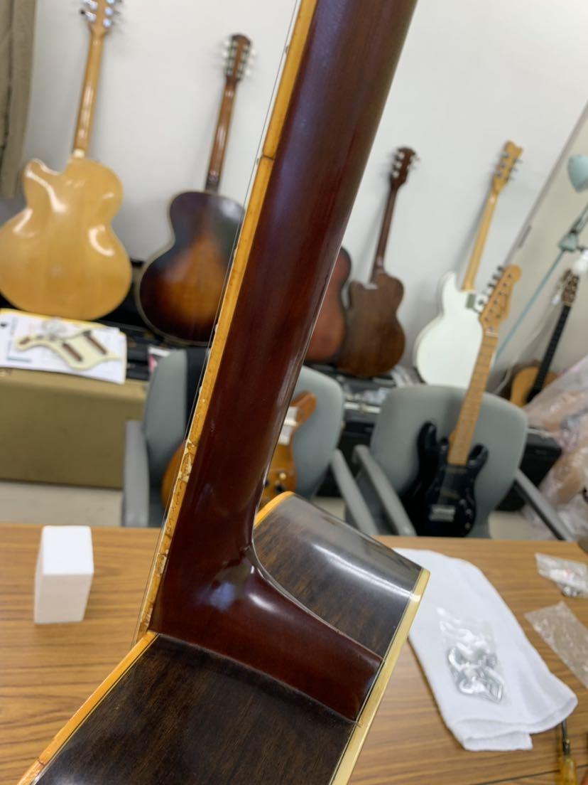 jagard 70s vintage D35 寺田楽器? ジャガード ビンテージ 古い 不明 ヴィンテージ マーチンタイプ 70年代製_画像10