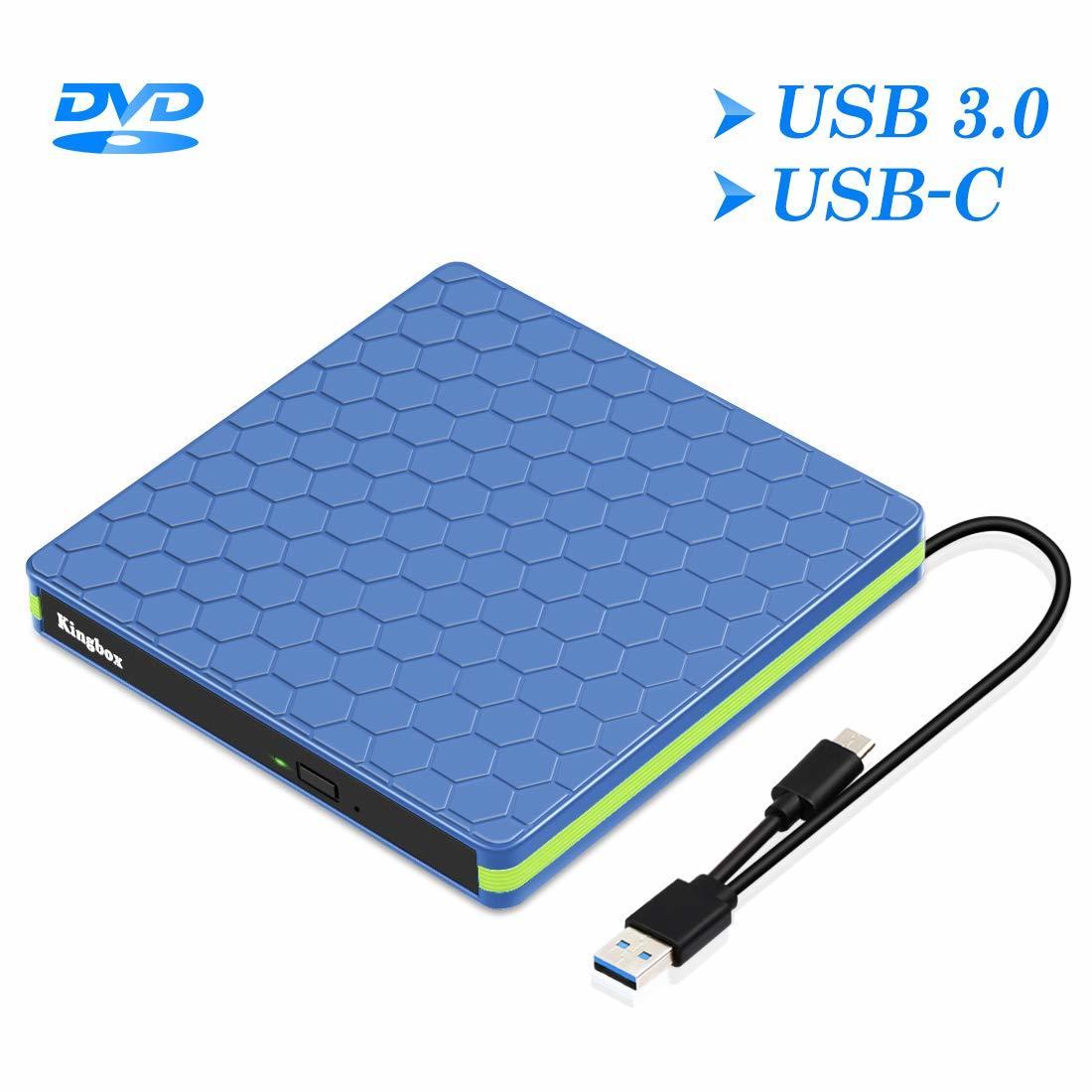 【作業効率化!】21C【2019最新型】USB3.0 外付け DVD ドライブ DVD プレーヤー USB ポータブルドライブ USB3.0 Type-C 薄型