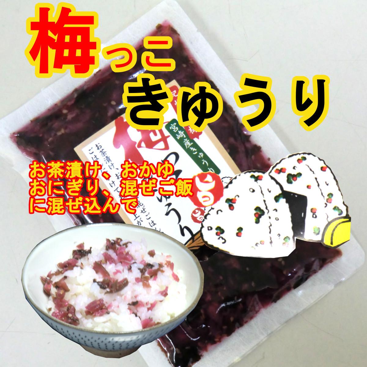 おかず3種2セット  梅っこきゅうり ごぼう たくあん ご飯のお供 おにぎり おつまみ 宮崎県産のお漬物 送料無料 _画像3