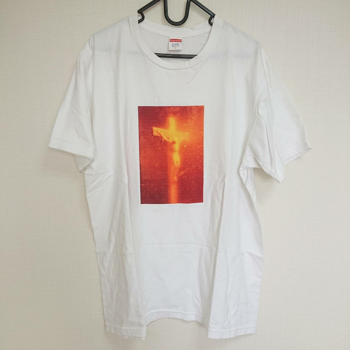 SUPREME シュプリーム 17AW Piss Christ Tee Tシャツ 白 Size【L】used