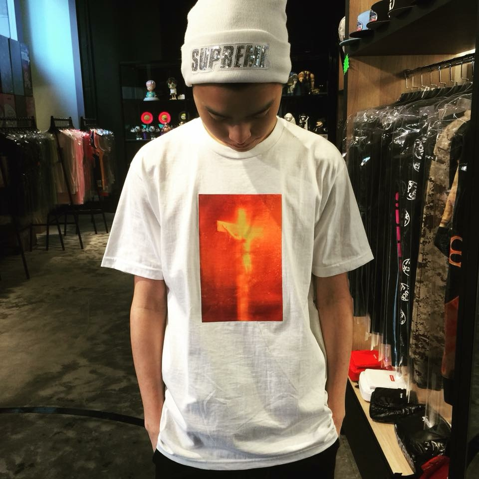 SUPREME シュプリーム 17AW Piss Christ Tee Tシャツ 白 Size【L】used_画像4