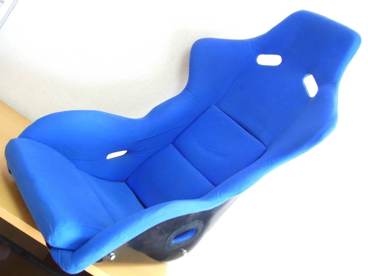 ノーブランド フルバケットシート 青 深めサポート 綺麗 送料安価に 検 SP-G ZETA_画像10
