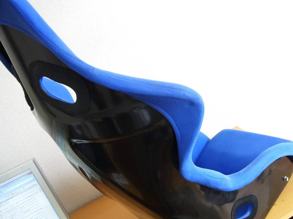 ノーブランド フルバケットシート 青 深めサポート 綺麗 送料安価に 検 SP-G ZETA_画像9