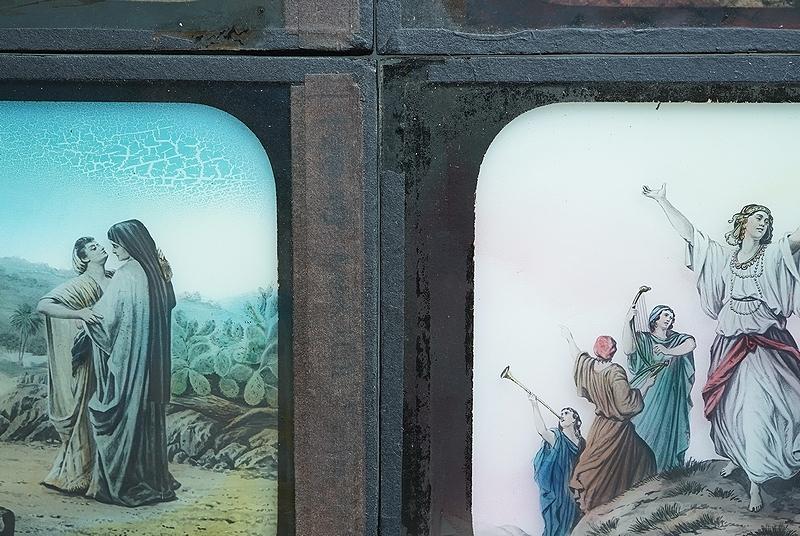 【アンティークガラススライド9枚セット 聖書 古道具】ビンテージ ブロカント 信仰 キリスト イコン 蚤の市 レトロ オブジェ 幻灯機 資料に_画像7