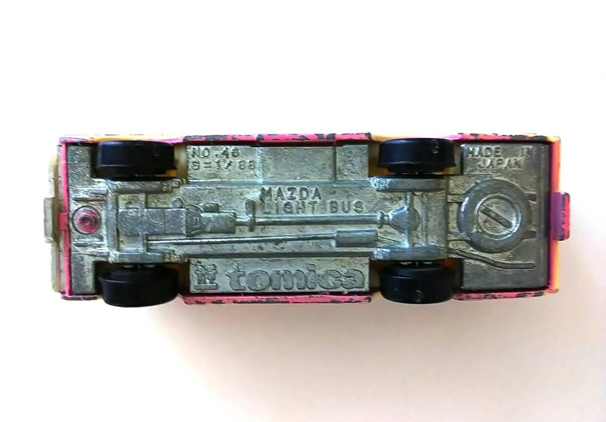 トミカ 46 マツダライトバス 旧ホイール 日本製 箱なし ジャンク 現状品 _画像6