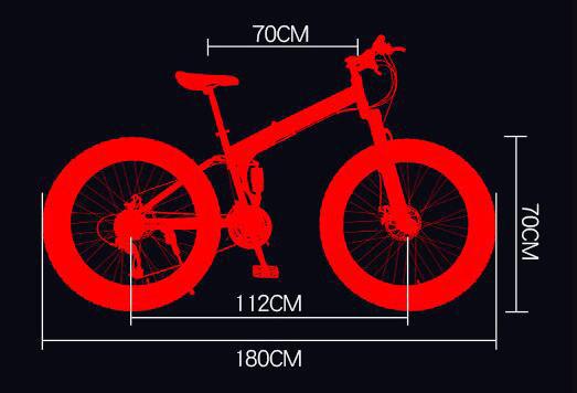 折り畳み自転車 26インチ 完成品 マウンテンバイク ディスクブレーキ アルミ 21段変速 極太タイヤ _画像4