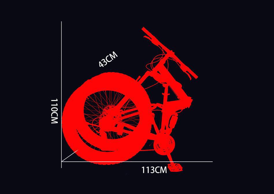 折り畳み自転車 26インチ 完成品 マウンテンバイク ディスクブレーキ アルミ 21段変速 極太タイヤ _画像5