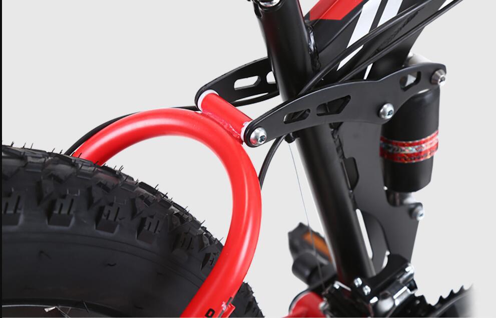 折り畳み自転車 26インチ 完成品 マウンテンバイク ディスクブレーキ アルミ 21段変速 極太タイヤ _画像3