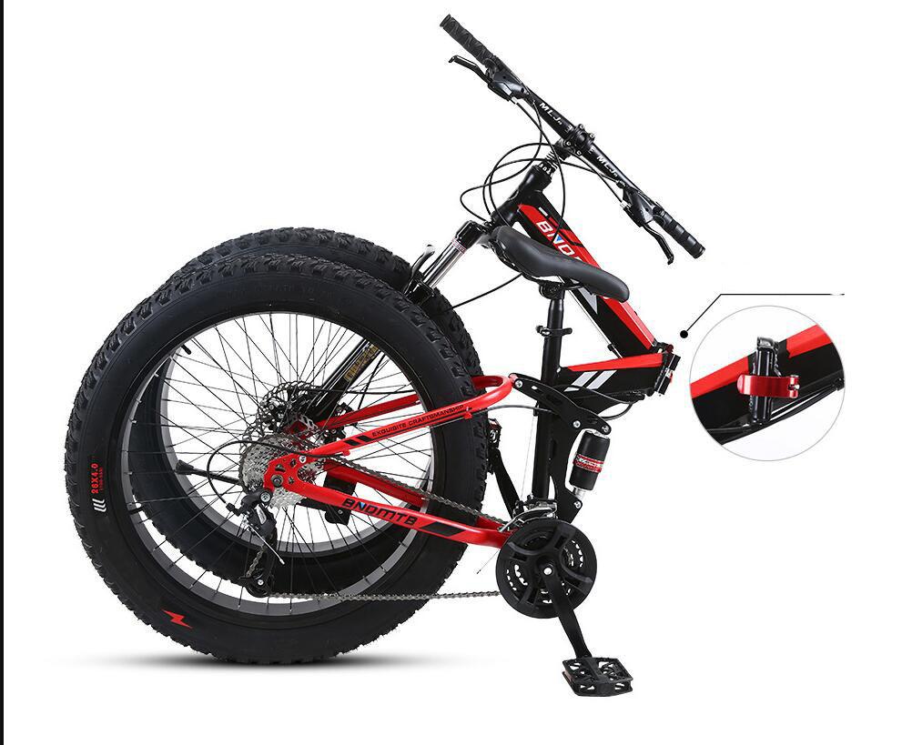 折り畳み自転車 26インチ 完成品 マウンテンバイク ディスクブレーキ アルミ 21段変速 極太タイヤ _画像7