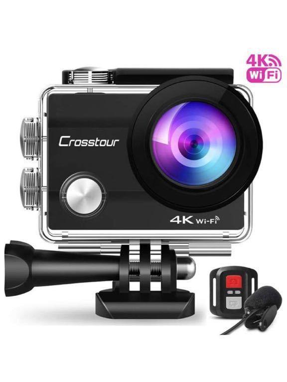 格安 新品アクションカメラ 4K高画質1600万画素 水中カメラ 外部マイク リモコン付き WiFi搭載 手ブレ補正 タイムラプス ループ録画 防水