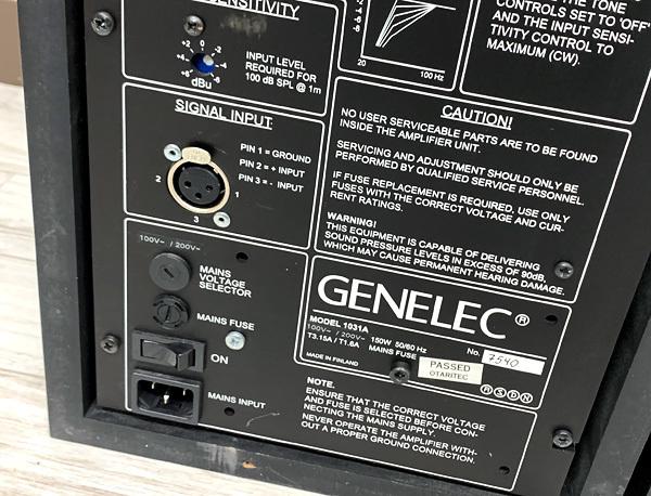 ■GENELEC Model 1031A パワード スタジオモニタースピーカー ペア ジェネレック■_画像6