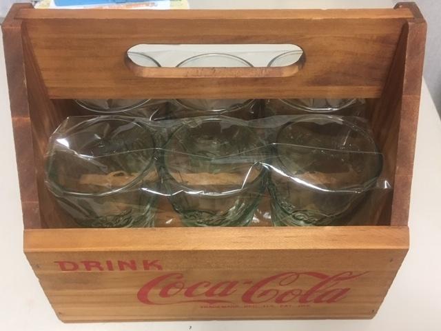コカ・コーラ グラス 6個セット 木箱ケース付き